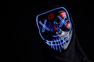 mask, purge, creepy