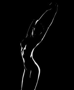 woman, shadow, female
